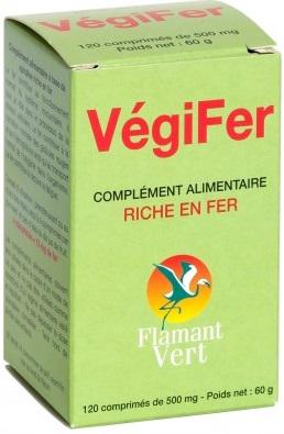 Prix de flamant vert vegifer riche en fer 120 comprimes - Produit riche en fer ...