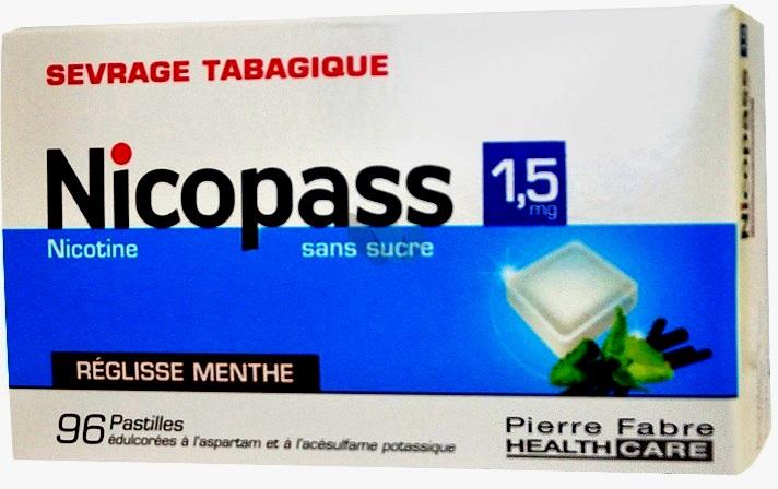 NICOPASS SANS SUCRE REGLISSE MENTHE 1,5mg PASTILLE B/96 ...