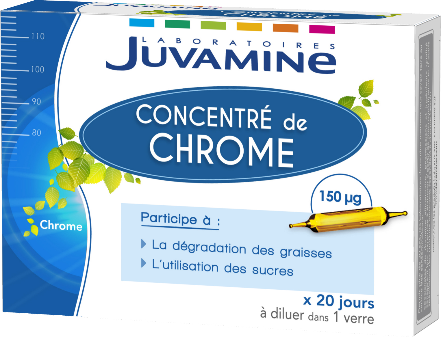 Prix de Juvamine Concentré de Chrome Double Action 20 Ampoules
