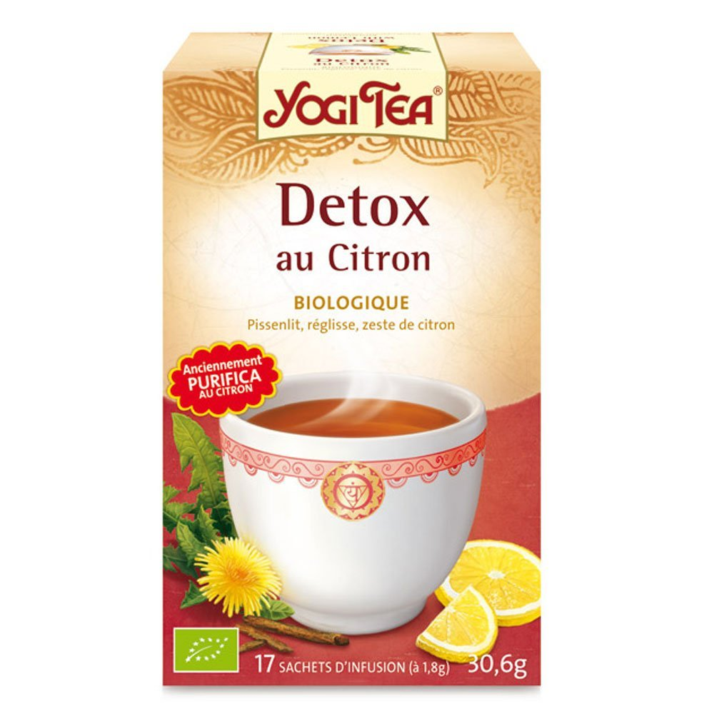 prix d 39 yogi tea detox citron 17 sachets. Black Bedroom Furniture Sets. Home Design Ideas