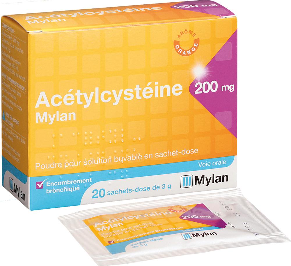La Boite Jaune Prix acetylcysteine mylan boite de 20 sachets - mylan pharma