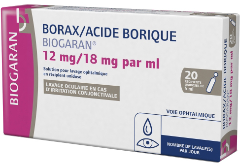 Borax Acide Borique Lavage Oculaire 20 Unidoses Biogaran Prix