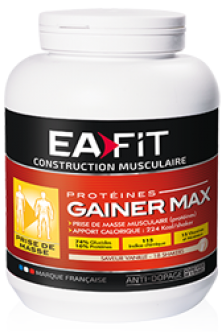 CONSTRUCTION MUSCULAIRE - Gainer Max Vanille - 2,9 kg