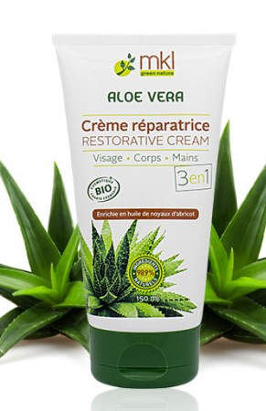 prix de mkl cr me r paratrice 3en1 aloe vera 150ml visage corps mains. Black Bedroom Furniture Sets. Home Design Ideas