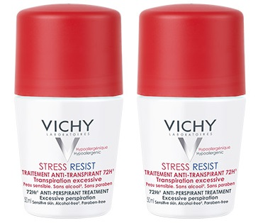 prix de vichy d transpirant intensif 72h lot de 2 transpiration excessive 2x50ml. Black Bedroom Furniture Sets. Home Design Ideas
