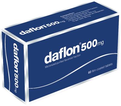Prix de Daflon 500 mg - 60 comprimés (SERVIER)