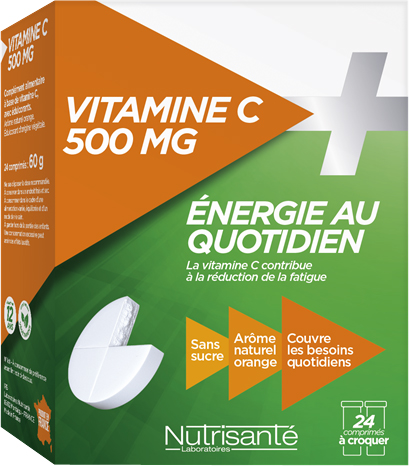 prix de nutrisant vitamine c croquer 500mg 24 comprim s. Black Bedroom Furniture Sets. Home Design Ideas