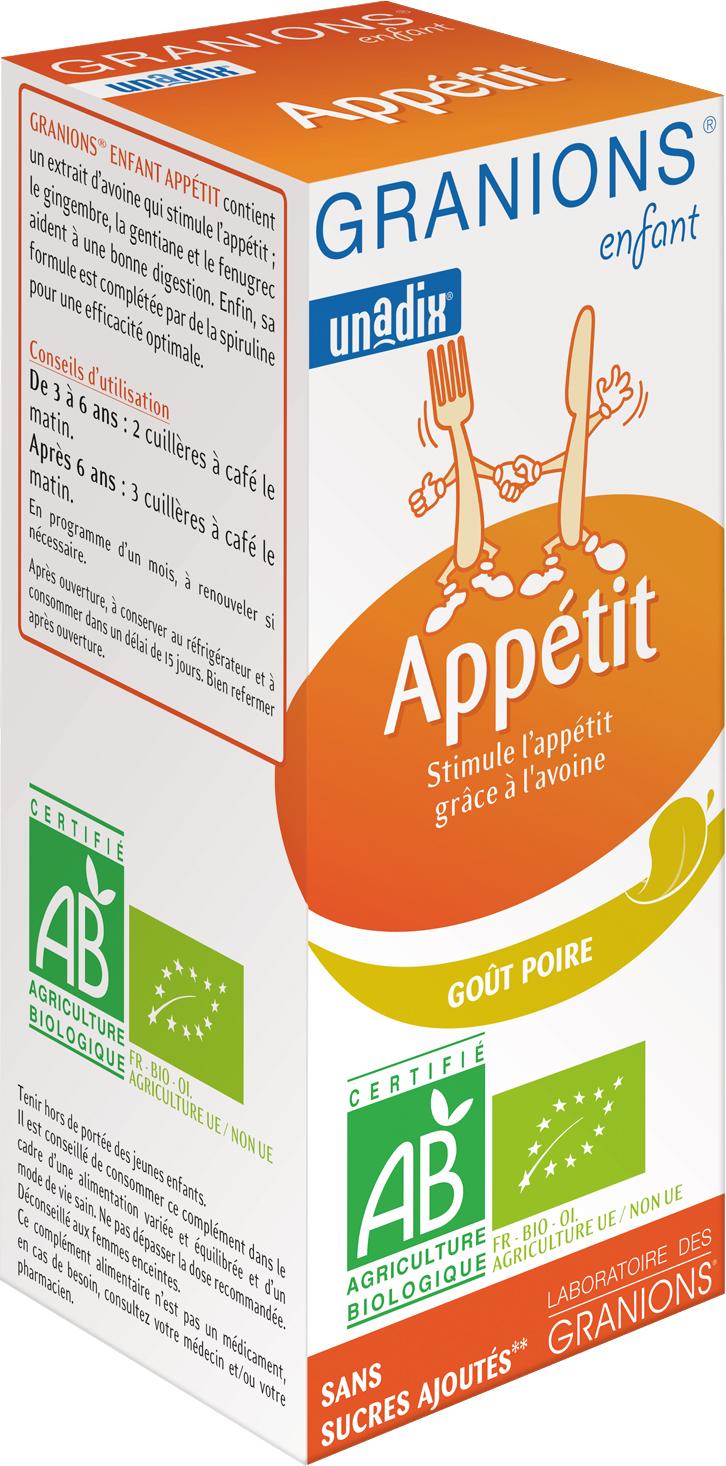 Prix de Granions Enfant Appétit Bio 125ml