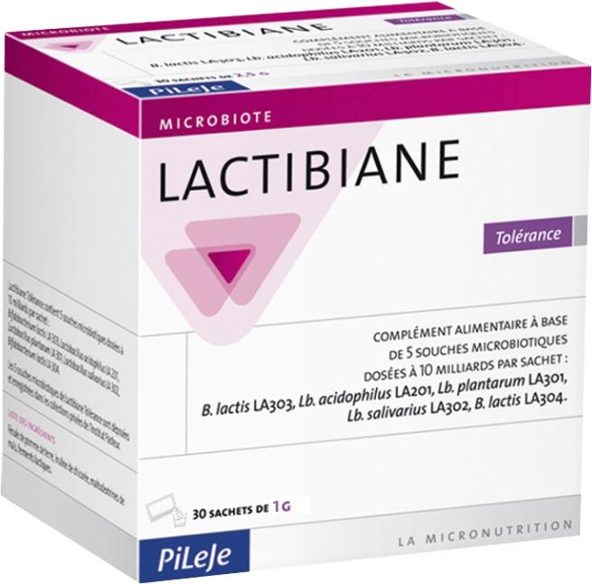 Prix de pileje lactibiane tolérance 30 sachets de 1 g