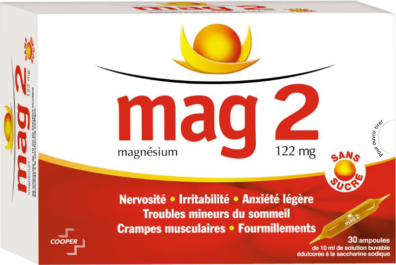 prix de mag 2 magn sium 30 ampoules irritabilit nervosit cooper. Black Bedroom Furniture Sets. Home Design Ideas