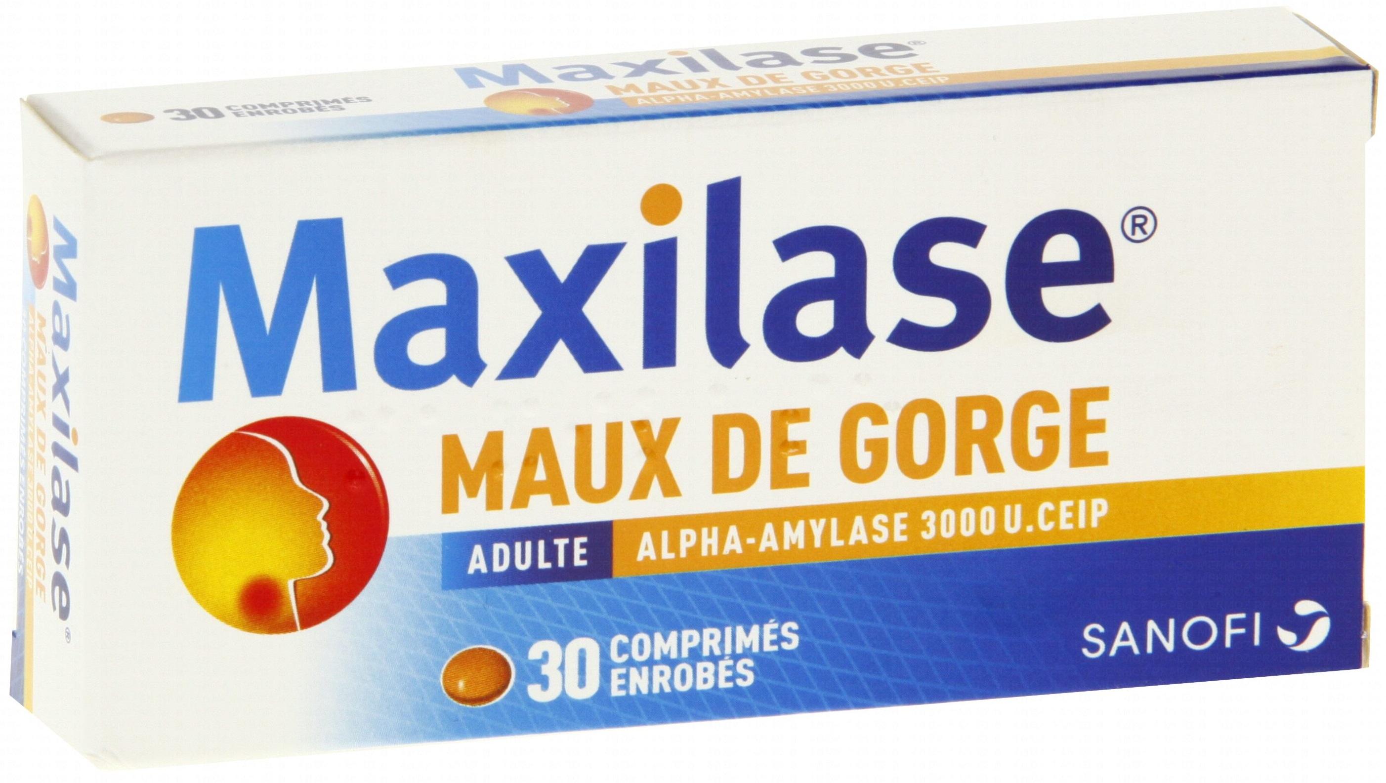 La Boite Jaune Prix maxilase 3000 comprimés enrobés boite de 30 - sanofi
