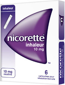 Prix de NICORETTE INHALEUR 10mg CART INH BUCC B/6