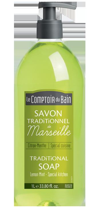Le comptoir du bain savon liquide de marseille menthe - Savon liquide de marseille le comptoir du bain ...