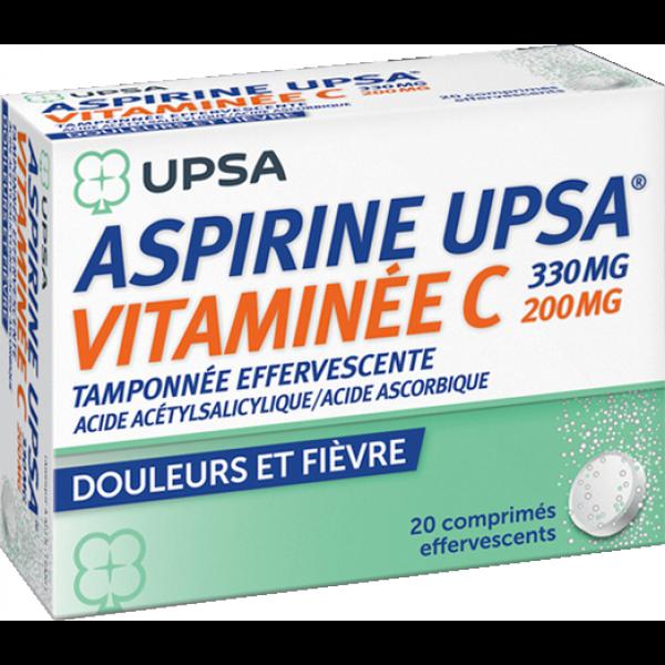 Prix d'ASPIRINE UPSA VITAMINEE C TAMPONNEE EFFERVESCENTE