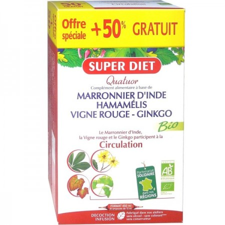 CIRCULATION - Quatuor Vigne Rouge Bio 15 ml - 30 ampoules