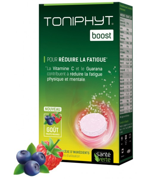 TONIPHYT - Boost Fruit Rouge - 30 comprimés effervescents