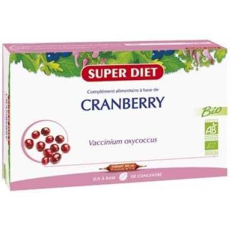 CRANBERRY - Canneberge Bio 15 ml - 20 ampoules