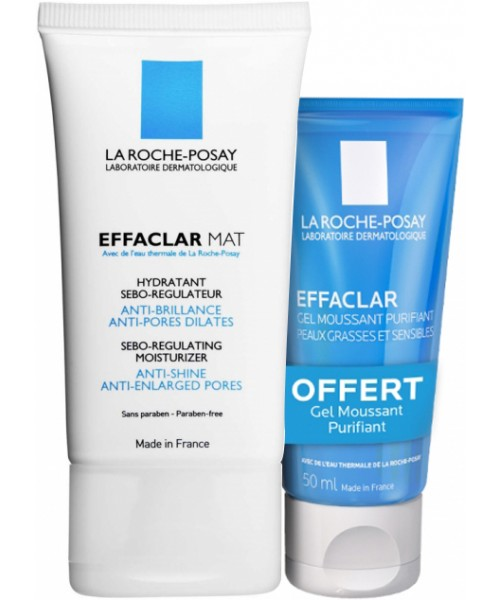 EFFACLAR - Mat Hydratant - 40 ml + Gel Moussant - 50 ml