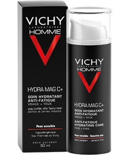 HOMME - HYDRA MAG C + - Soin Hydratant Anti-Fatigue Visage et Yeux - 50 ml