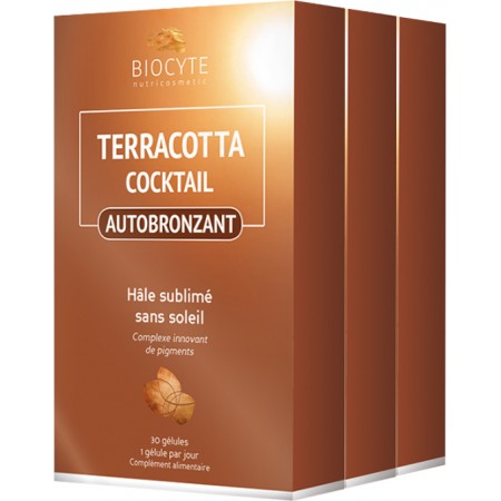 SOLAIRE - Terracotta Cocktail Autobronzant - Lot de 3 x 30 gélules