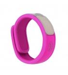 Bracelet anti-moustiques Fuchsia -  1 bracelet + 2 recharges
