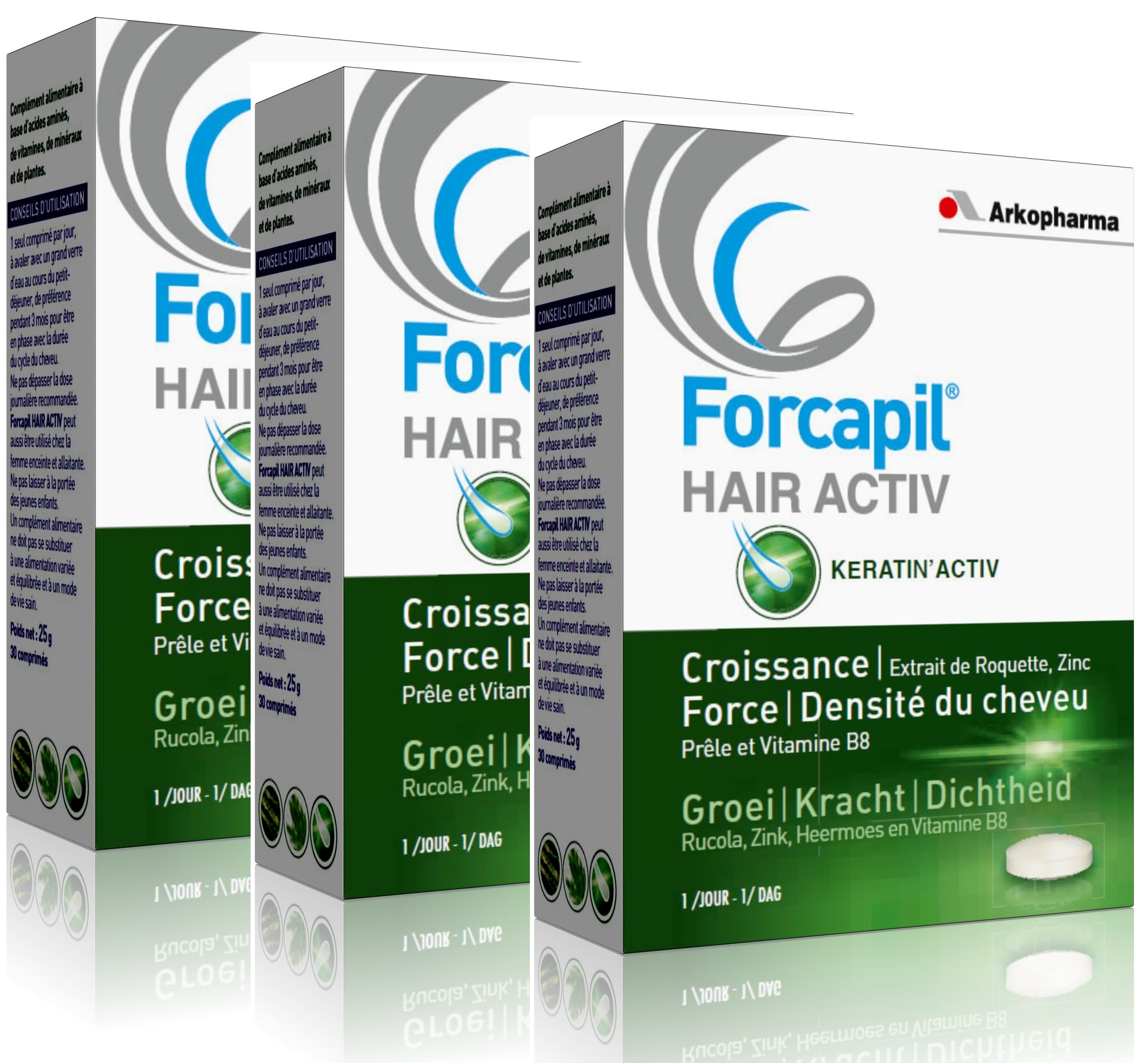 Arkopharma C - Forcapil Hair Activ Programme Intensif 3