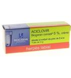 Aciclovir - Crème Pour Herpès Labial - 2 g