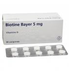 BIOTINE - Anti-Chute Cheveux - 60 Comprimés de 5 mg