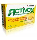 ACTIVOX - Comprimé à Sucer Maux de gorges & Toux Sèche - 24 Pastilles