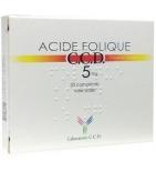 Acide folique 5 mg - Boîte de 20 comprimés