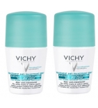 DEODORANT - Anti-Transpirant Intense Anti-Traces Jaune et Blanches 48h Roll-On - Lot de 2 x 50 ml
