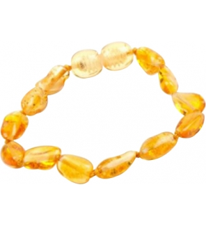 elyxya bracelet d 39 ambre b b grain de caf jaune jvmm. Black Bedroom Furniture Sets. Home Design Ideas