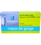 Alfa-Amylase - Maux de Gorge - 18 comprimés enrobés