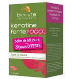 KERATINE FORTE - Santé & Volume 1000 mg - Lot de 3 x 40 gélules