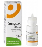 Cromabak 20 mg/ml Collyre - 10 ml
