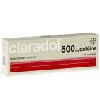 CLARADOL Caféiné - Anti-Douleurs et Fièvre - 16 comprimés de 500 mg