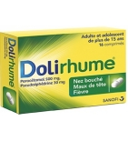 DoliRhume Nez Bouché Maux de Tête - 16 comprimés