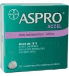 ASPRO ACCEL  - Maux de Tête - 20 comprimés Effervescents
