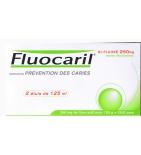 Dentifrice Bi-Fluoré Menthe 250 mg - Lot de 2 x 125 ml
