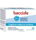 BACCIDE - Lingettes Individuelles - 12 lingettes