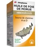 ARKOGELULES - Huile de Foie de Morue - Source de Vitamines A et D - 60 capsules