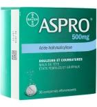 ASPRO - Douleurs et Courbatures - 36 comprimés Effervescentsde 500 mg