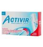 ACTIVIR 5 % Crème Bouton de fièvre - 2 g