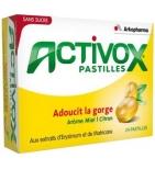ACTIVOX - Pastilles Arôme Miel Citron - 24 pastilles