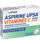 Aspirine UPSA vitamine C 330mg/200mg - 20 comprimés effervescents