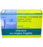 Cystine Vitamine B6 Cheveux ou Ongles Fragiles - 120 comprimés