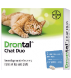 DRONTAL - VERMIFUGE - Chat Duo - 2 comprimés