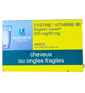Cystine/Vitamine B6 - 120 comprimés