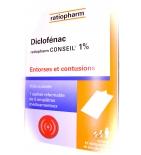 Diclofenac 1% Ratiopharm emplâtre - 5 patchs