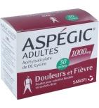 Aspegic 1000 mg Adultes - 30 sachets en poudre à diluer